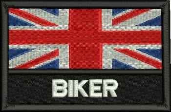 Union Jack Biker Embroidered Badge
